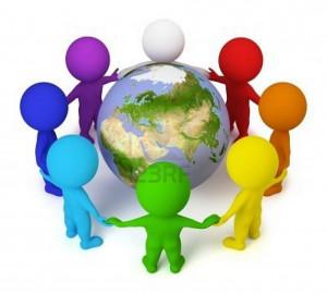 Sur le thème de la Paix dans le monde  dans Coup de coeur 6794171-3d-petit-peuple-rejoint-mains-autour-de-la-terre-image-tridimensionnelle-fond-blanc-isolee1-300x270